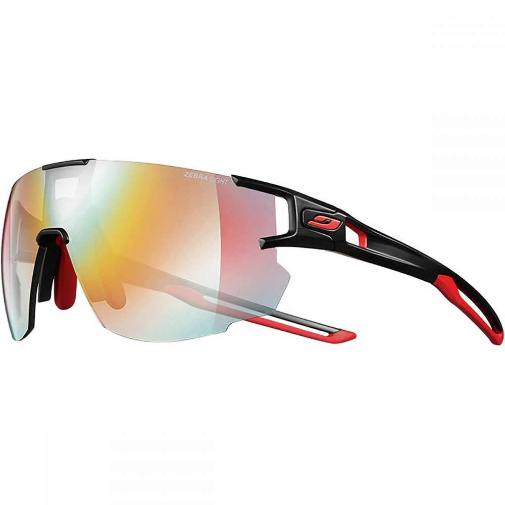 ジュルボ Julbo レディース スポーツサングラス 【Aerospeed Zebra Sunglasses】Black/Red/Red-Zebra Light Fire Yellow/Brown