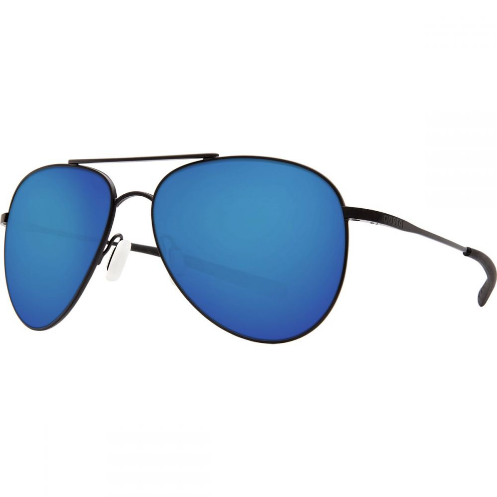 コスタ Costa レディース メガネ・サングラス 【Cook 580P Polarized Sunglasses】Satin Black Blue Mirror 580p