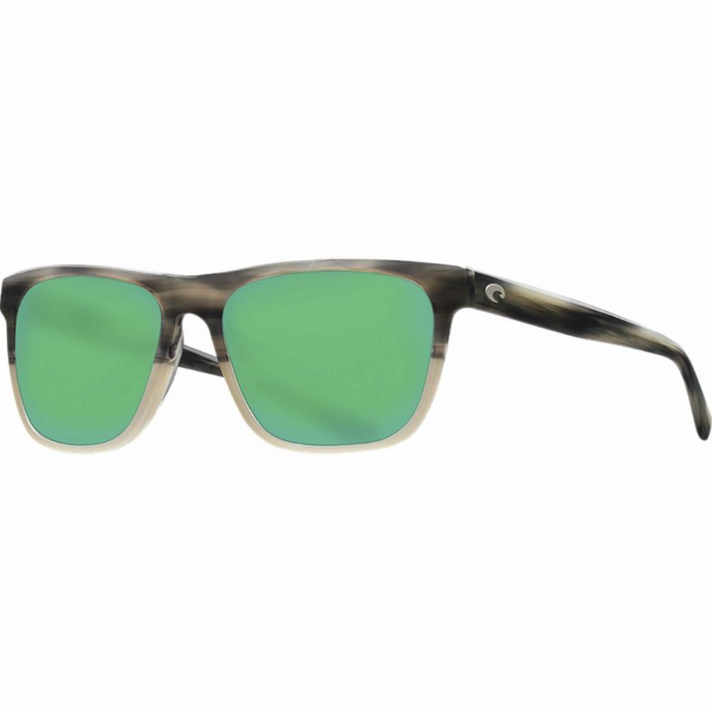 コスタ Costa レディース メガネ・サングラス 【Apalach 580PG Polarized Sunglasses】Shiny Sand Dollar Frame/Green Mirror 580G