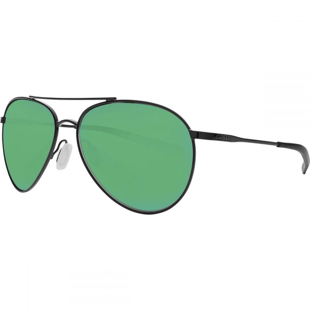コスタ Costa レディース メガネ・サングラス 【Piper 580P Polarized Sunglasses】Shiny Black Frame/Green Mirror
