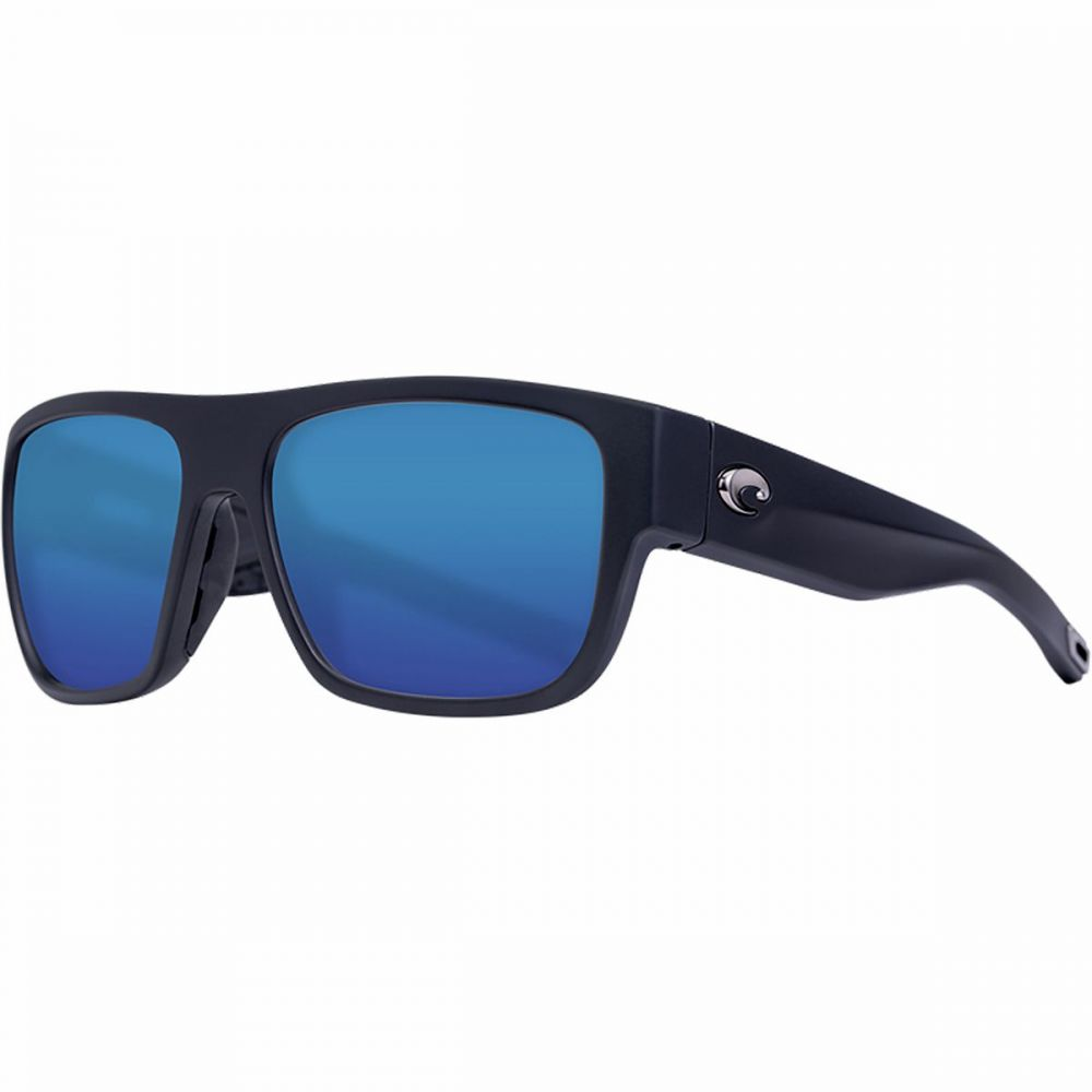コスタ Costa レディース メガネ・サングラス 【Sampan 580G Polarized Sunglasses】Matte Black Frame/Blue Mirror