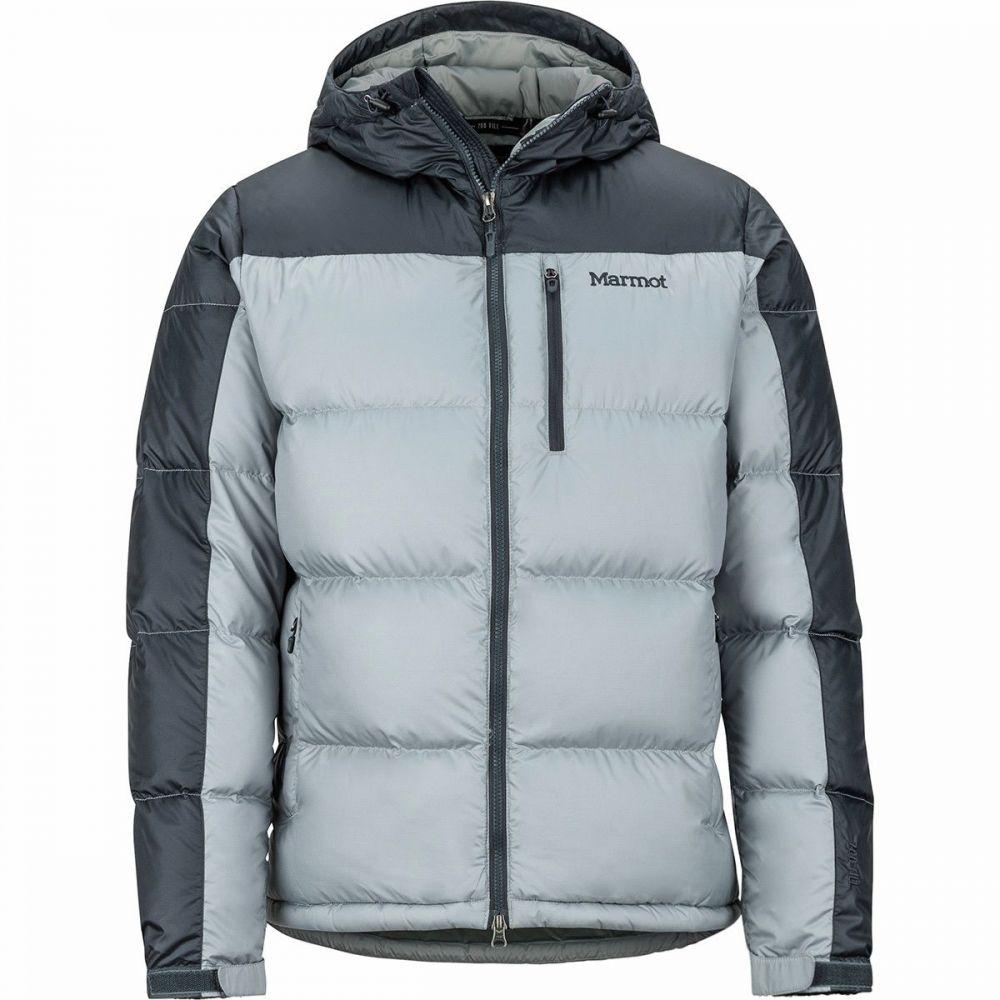マーモット Marmot メンズ ダウン・中綿ジャケット フード アウター【Guides Down Hooded Jacket】Grey Storm/Dark Steel