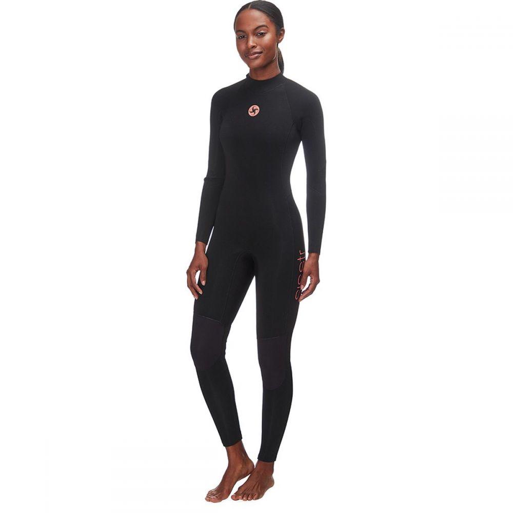 ヴィスラ Sisstr Revolution レディース ウェットスーツ フルスーツ 水着・ビーチウェア【7 Seas 4/3mm Back - Zip Long - Sleeve Full Wetsuit】Black