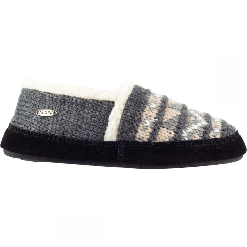エーコーン Acorn レディース スリッパ シューズ・靴【Nordic Moc Slipper】Nordic Grey