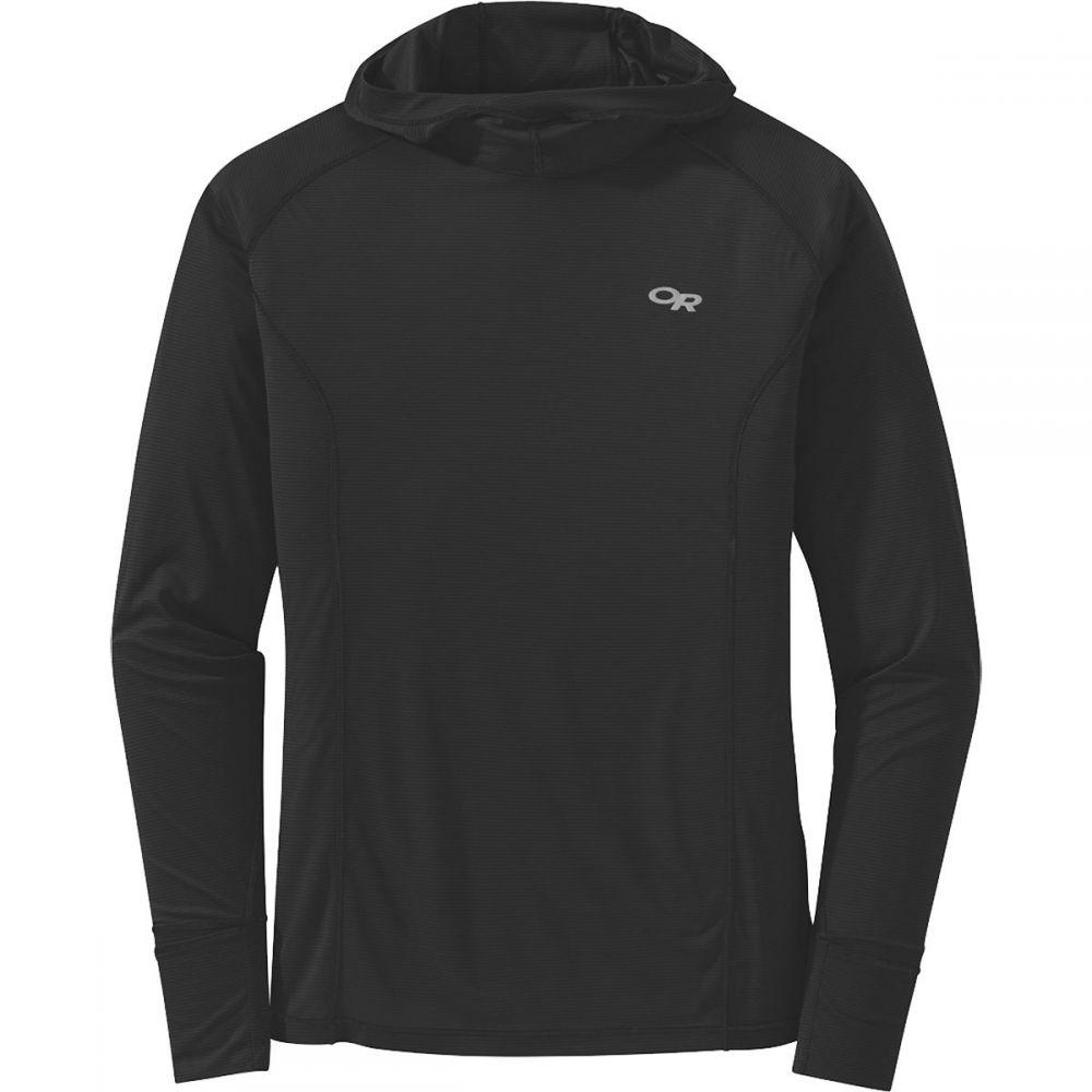 アウトドアリサーチ Outdoor Research メンズ 長袖Tシャツ トップス【Echo Hooded Long - Sleeve Shirt】Black