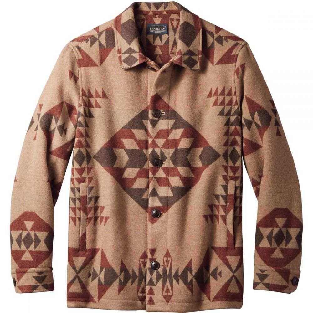 ペンドルトン Pendleton メンズ ジャケット アウター【Button Front Jacquard Jacket】Basket Maker Camel