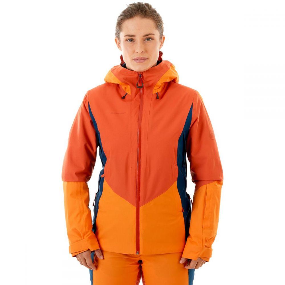 マムート Mammut レディース スキー・スノーボード フード ジャケット アウター【Casanna HS Thermo Hooded Jacket】Pepper/Cheddar/Wing Teal