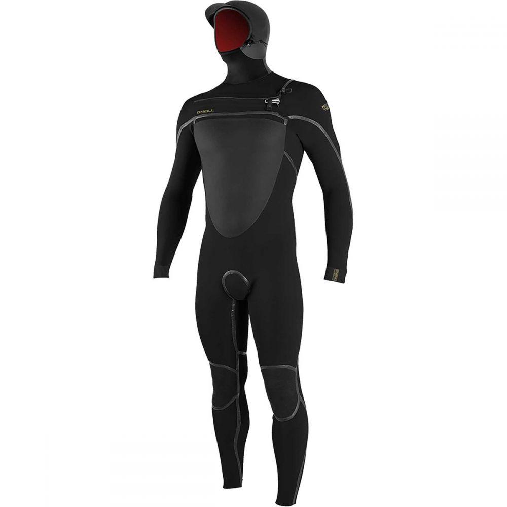 オニール O'Neill メンズ ウェットスーツ フルスーツ フード 水着・ビーチウェア【Psycho Tech 5.5/4+mm Hooded Chest - Zip Full Wetsuit】Black/Black