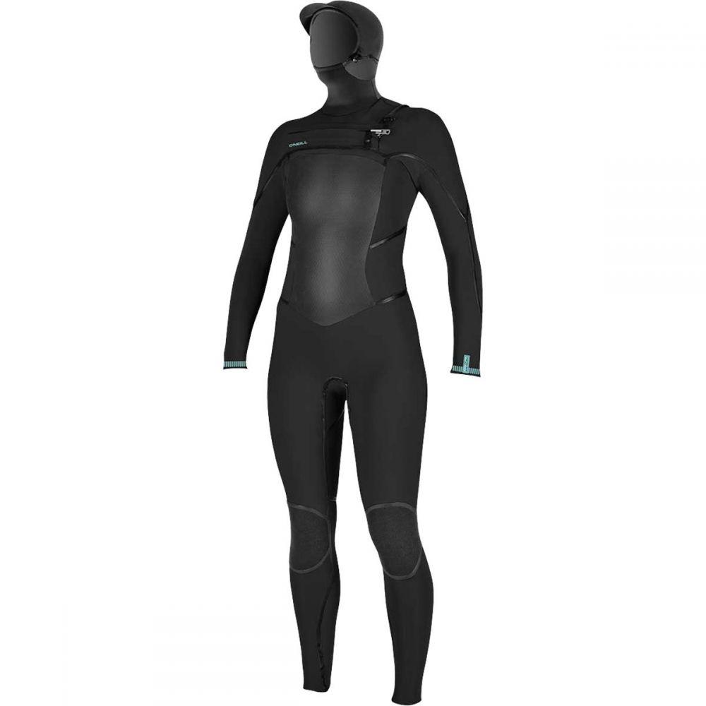 オニール O'Neill レディース ウェットスーツ フルスーツ フード 水着・ビーチウェア【Psycho Tech 5.5/4+mm Hooded Chest - Zip Full Wetsuit】Black/Black