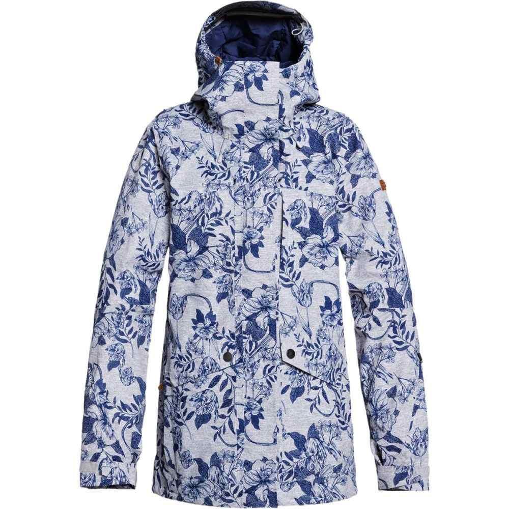ロキシー Roxy レディース スキー・スノーボード ジャケット アウター【Glade Printed Gore - Tex 2L Jacket】Heather Grey Botanical Flowers