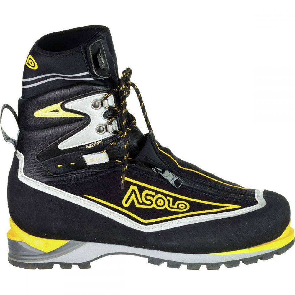 <title>アゾロ メンズ ハイキング 登山 10%OFF シューズ 靴 Black Yellow サイズ交換無料 Asolo 登山靴 Eiger GV Mountaineering Boot</title>