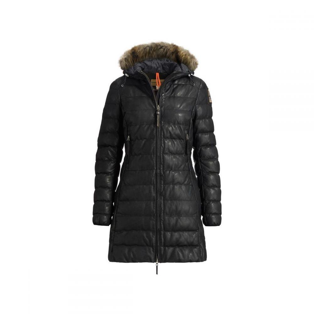 パラジャンパーズ Parajumpers レディース レザージャケット アウター【Demi Leather Insulated Jacket】Black