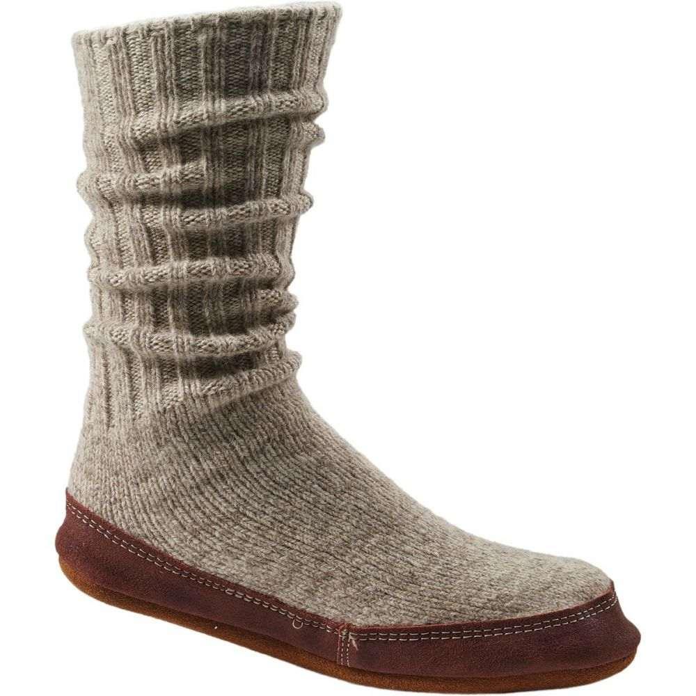 エーコーン Acorn レディース スリッパ シューズ・靴【Slipper Sock】Light Grey Ragg Wool