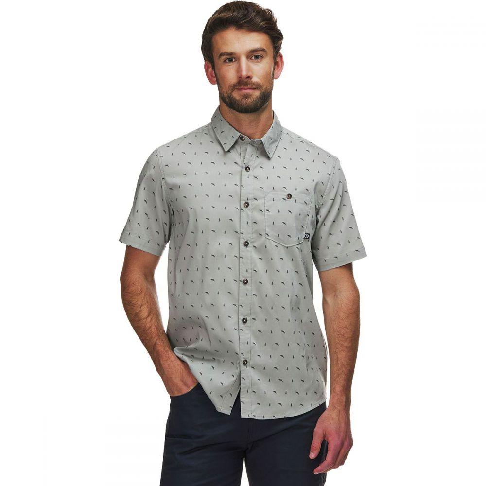 バックカントリー Backcountry メンズ 半袖シャツ トップス【Woven Short - Sleeve Shirt】Gray Fish Tree Print