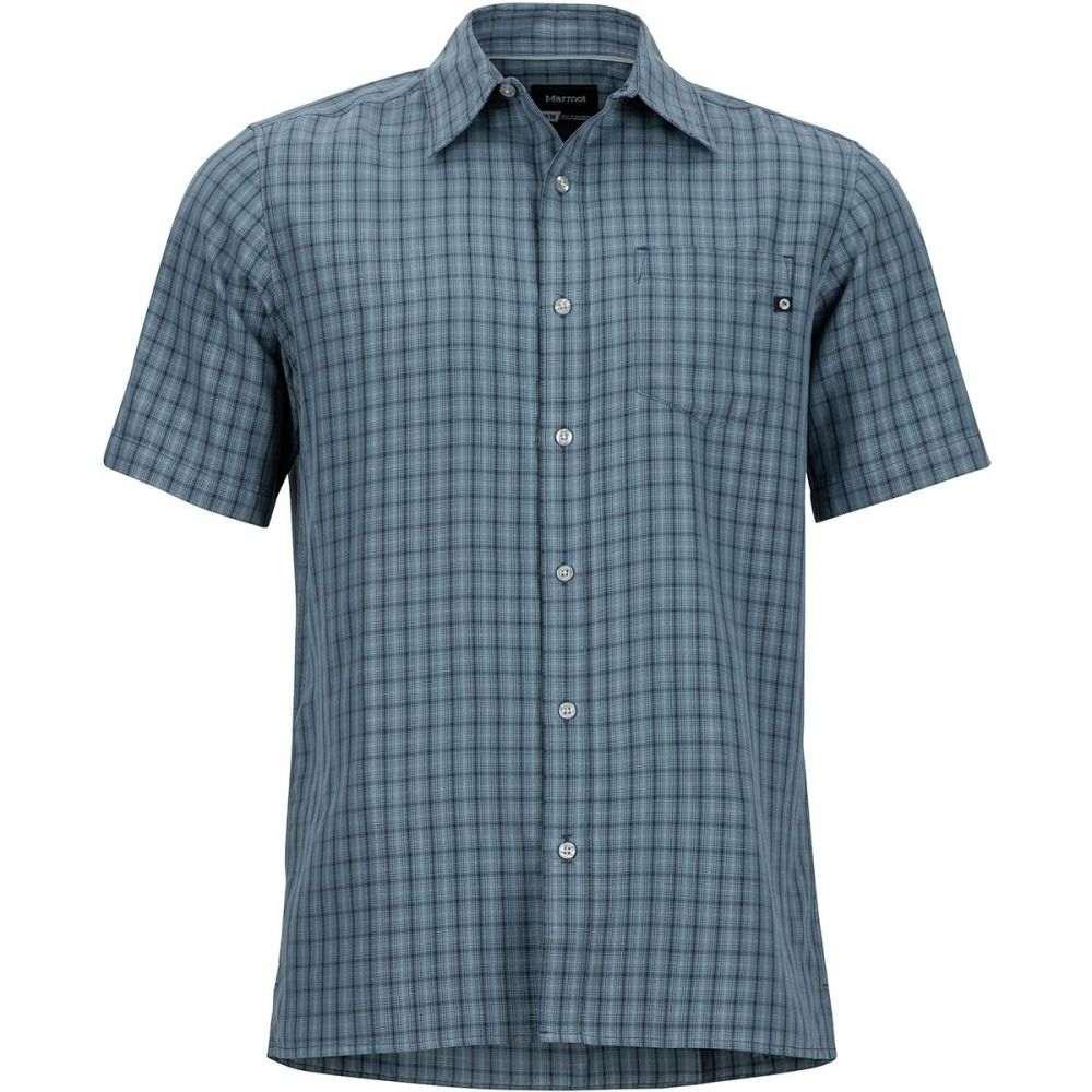 マーモット Marmot メンズ 半袖シャツ トップス【Eldridge Shirt】Steel Onyx