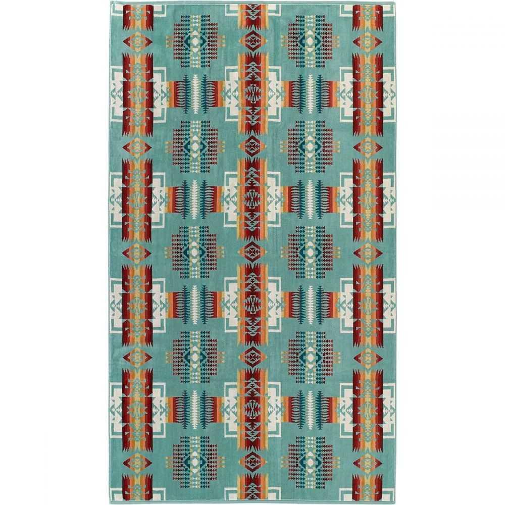 ペンドルトン Pendleton レディース ビーチタオル 水着・ビーチウェア【Oversized Jacquard Towel】Chief Joseph Aqua
