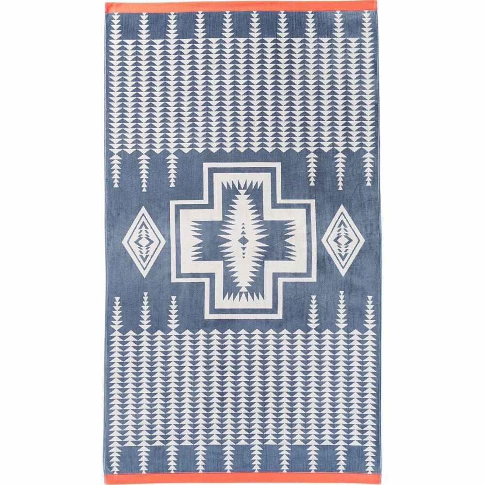 ペンドルトン Pendleton レディース ビーチタオル 水着・ビーチウェア【Oversized Jacquard Towel】Harding Slate