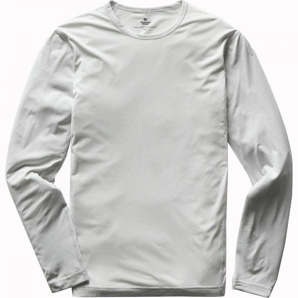 レイニングチャンプ Reigning Champ メンズ 長袖Tシャツ トップス【Training Long - Sleeve Shirt】Sky Grey