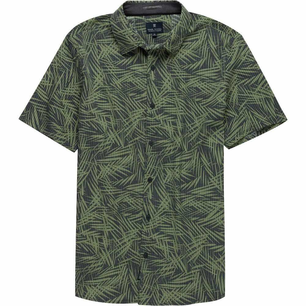 ロアークリバイバル Roark Revival メンズ 半袖シャツ トップス【Bless Up Woven Short - Sleeve Shirt】Charcoal