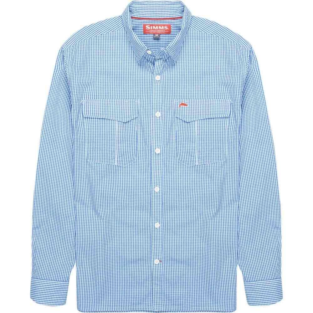 シムズ Simms メンズ 釣り・フィッシング トップス【Transit Long - Sleeve Shirt】Oxford Blue Plaid