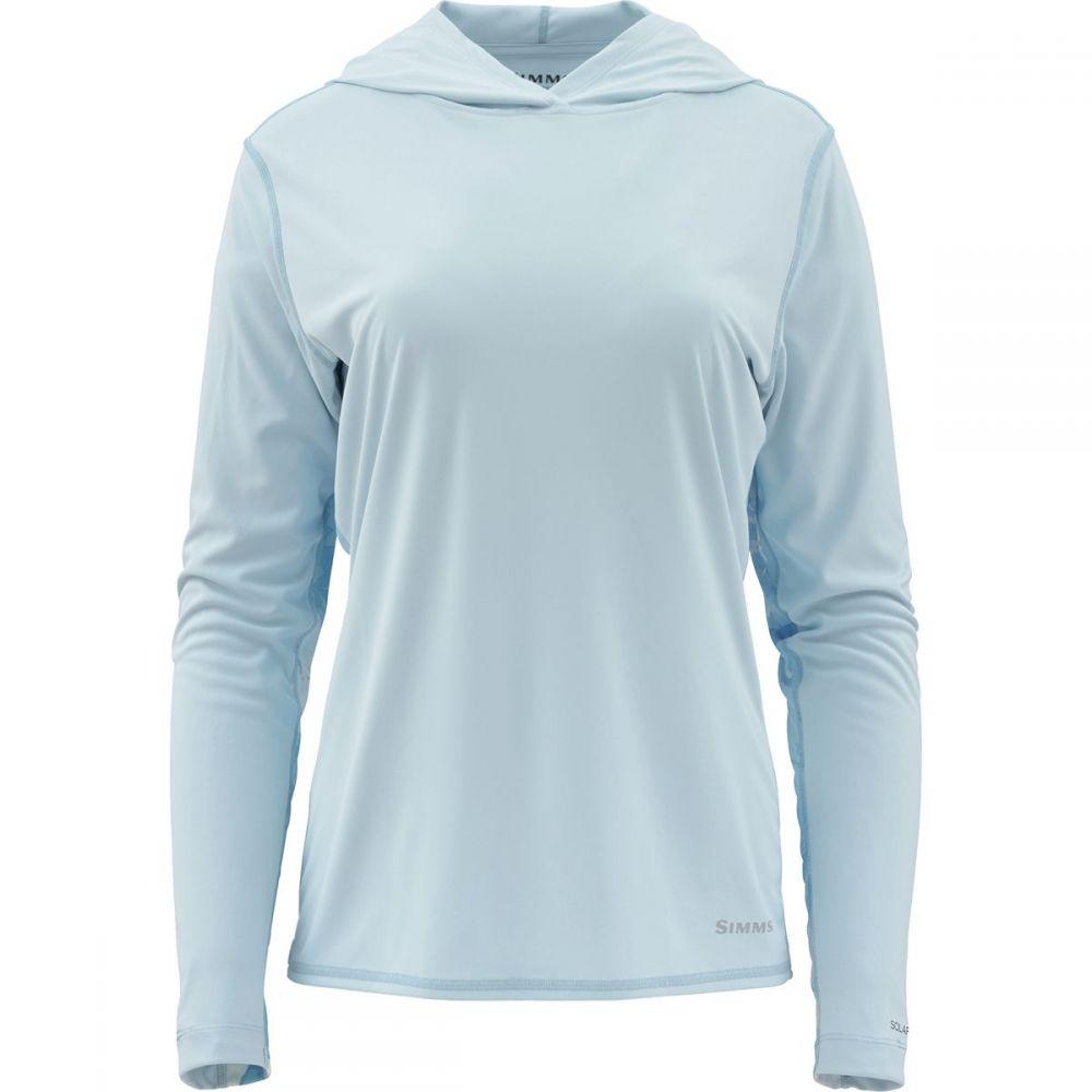 シムズ Simms レディース 釣り・フィッシング トップス【Solarflex Hooded Print Shirt】Blue Chill