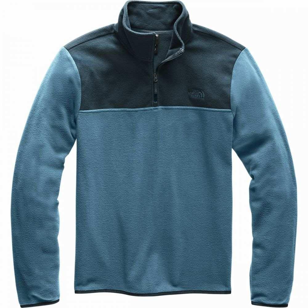 ザ ノースフェイス The North Face メンズ フリース トップス【TKA Glacier 1/4 - Zip Fleece Jacket】Blue Wing Teal/Urban Navy