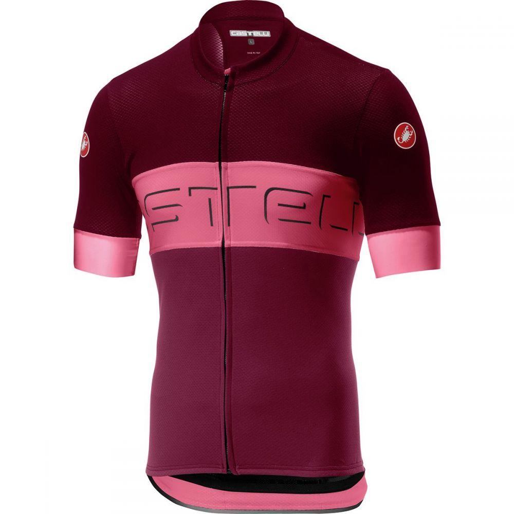 カステリ Castelli メンズ 自転車 トップス【Prologo VI Jersey】Barbaresco Red/Pink/Granata Red
