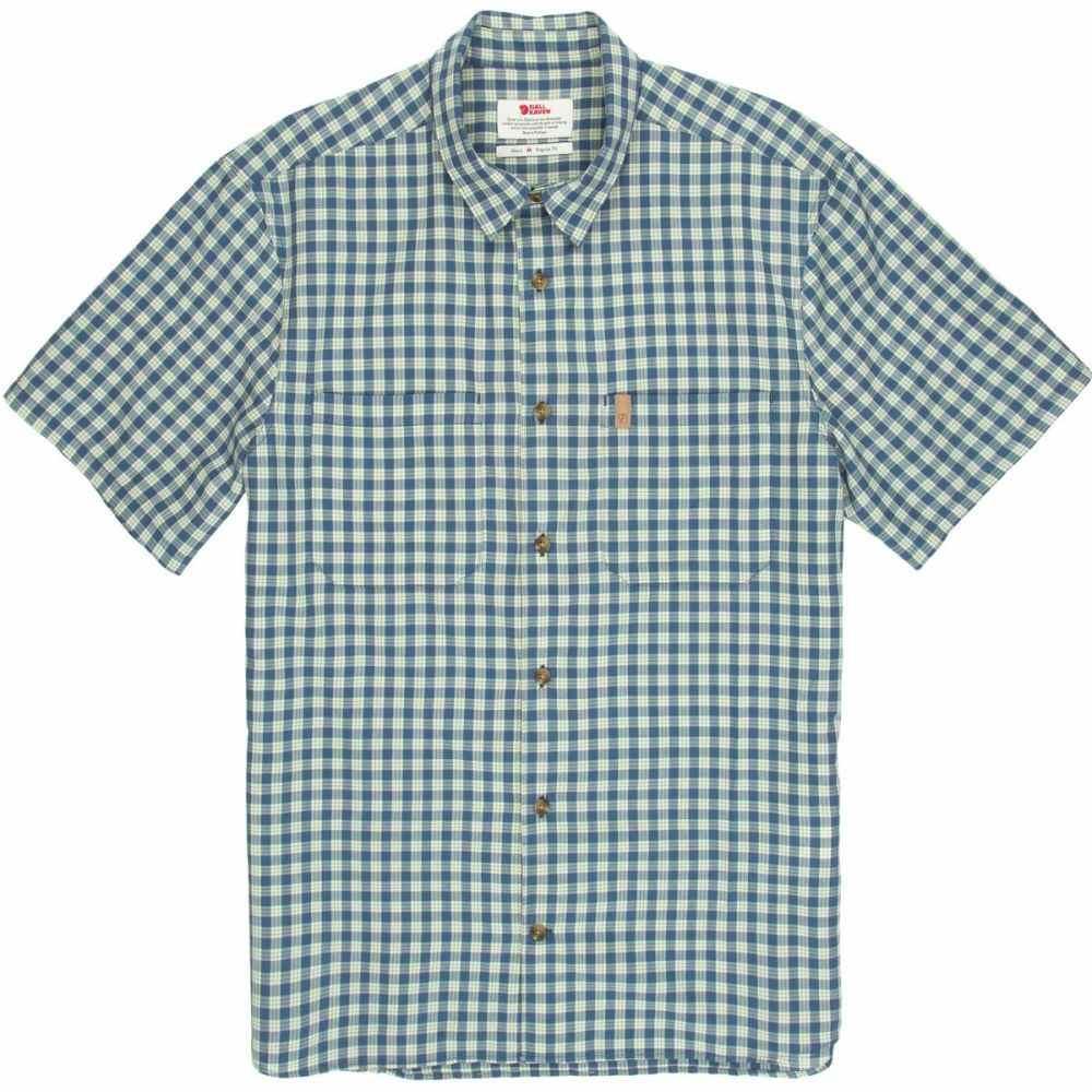 フェールラーベン Fjallraven メンズ 半袖シャツ トップス【High Coast Check Shirt】UN Blue