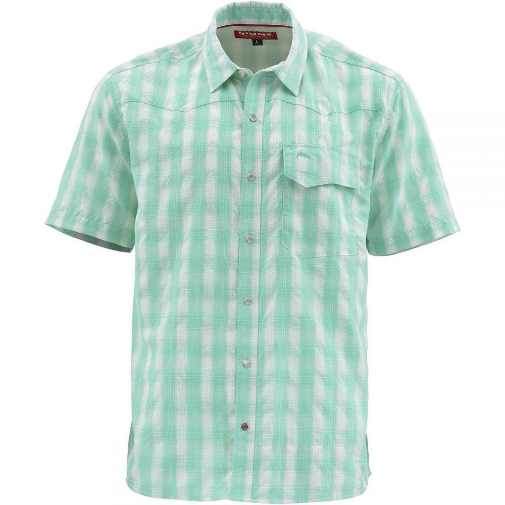 シムズ Simms メンズ 半袖シャツ トップス【Big Sky Short - Sleeve Shirt】Bahamas Plaid