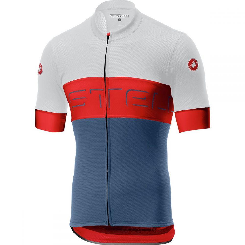 カステリ Castelli メンズ 自転車 トップス【Prologo VI Jersey】Ivory/Red/Light Steel Blue