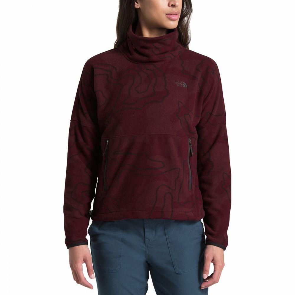 ザ ノースフェイス The North Face レディース フリース トップス【TKA Glacier Funnel - Neck Fleece Pullover】Deep Garnet Red Oversized Topo Print