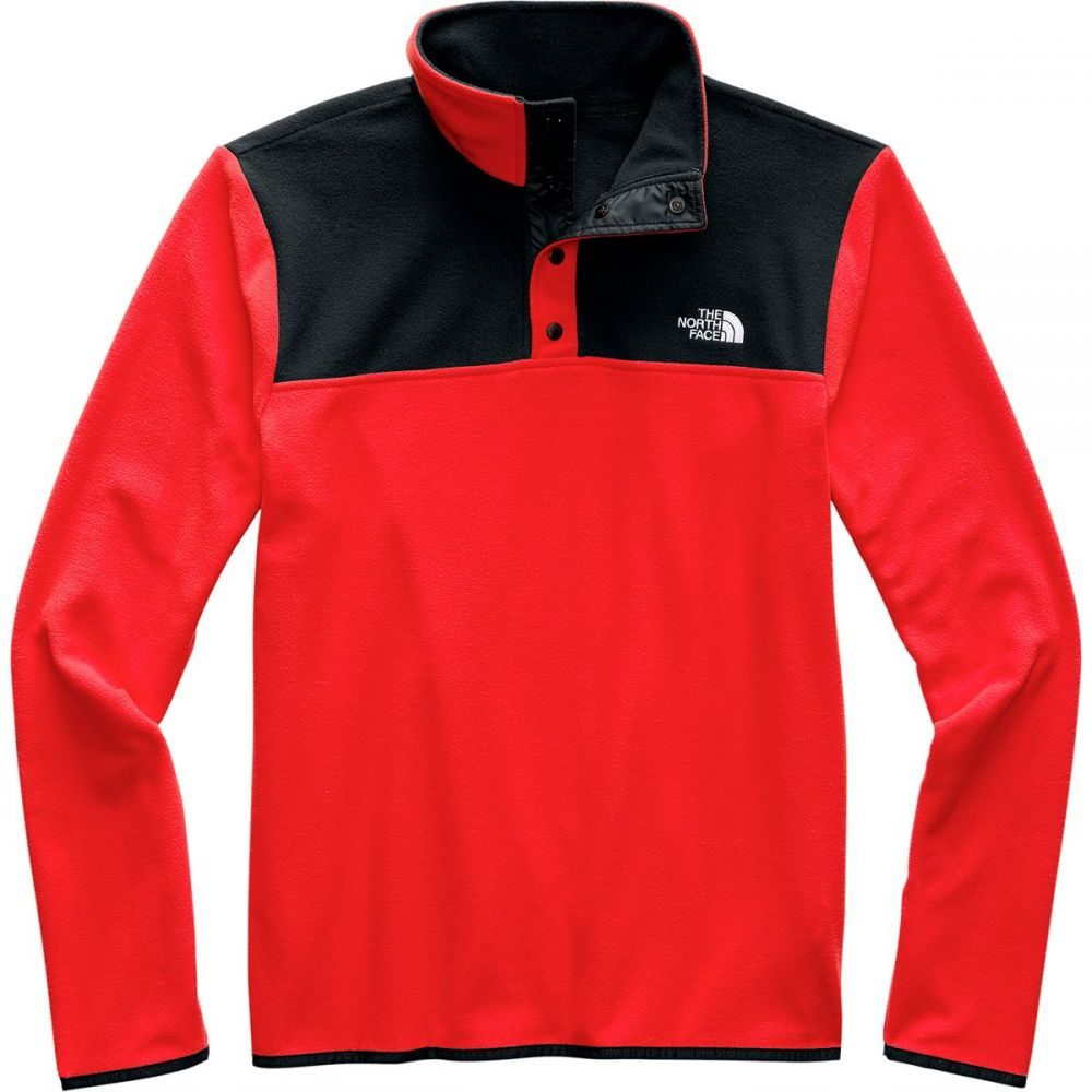 ザ ノースフェイス The North Face メンズ フリース トップス【TKA Glacier Snap - Neck Fleece Pullover】Fiery Red/Tnf Black