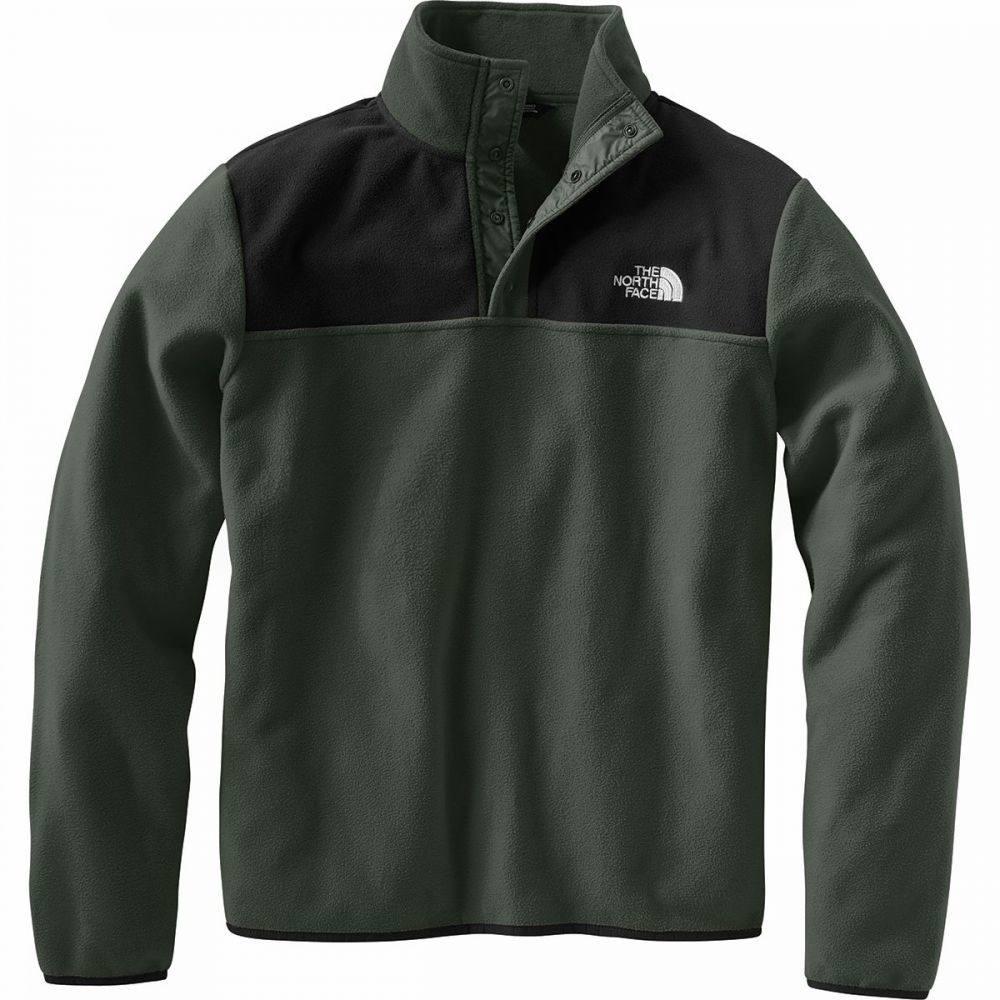 ザ ノースフェイス The North Face メンズ フリース トップス【TKA Glacier Snap - Neck Fleece Pullover】New Taupe Green/Tnf Black