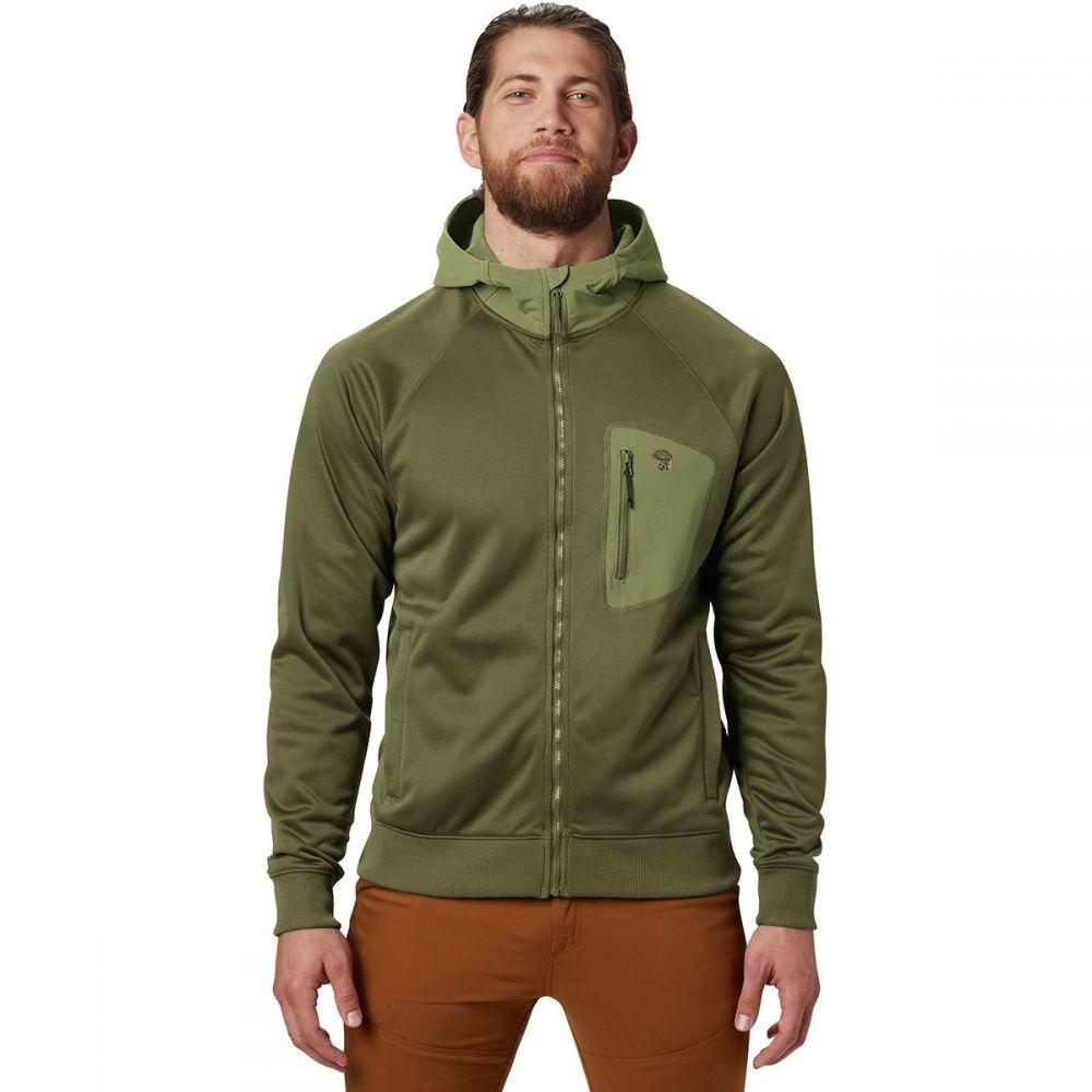マウンテンハードウェア Mountain Hardwear メンズ フリース フード トップス【Norse Peak Full - Zip Hooded Jacket】Dark Army