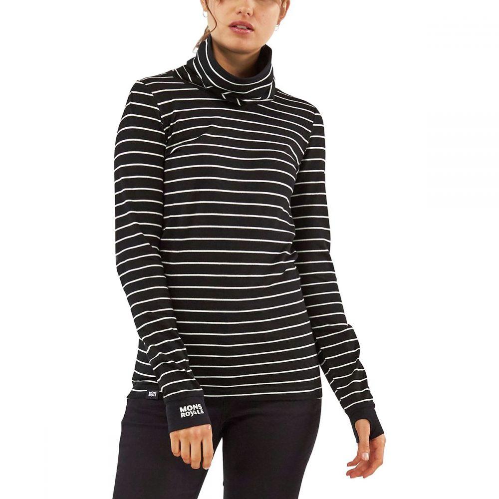 モンスロイヤル Mons Royale レディース トップス 【Cornice Rollover Long - Sleeve Top】Thin Stripe