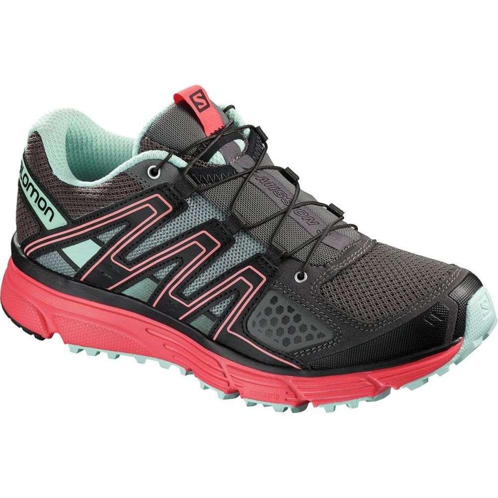 サロモン Salomon レディース ランニング・ウォーキング シューズ・靴【X - Mission 3 Trail Running Shoe】Magnet/Black/Poppy Red