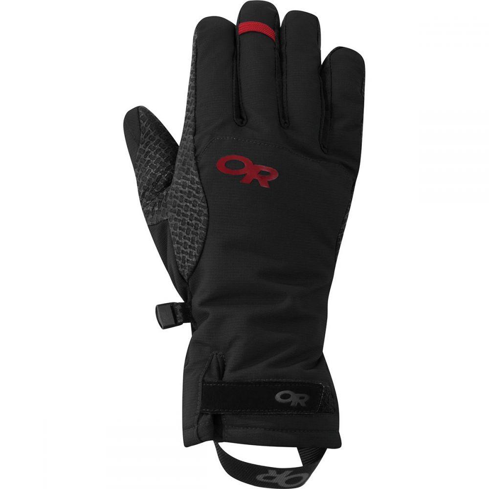 アウトドアリサーチ Outdoor Research レディース 手袋・グローブ 【Ouray Aerogel Ice Glove】Black/Tomato