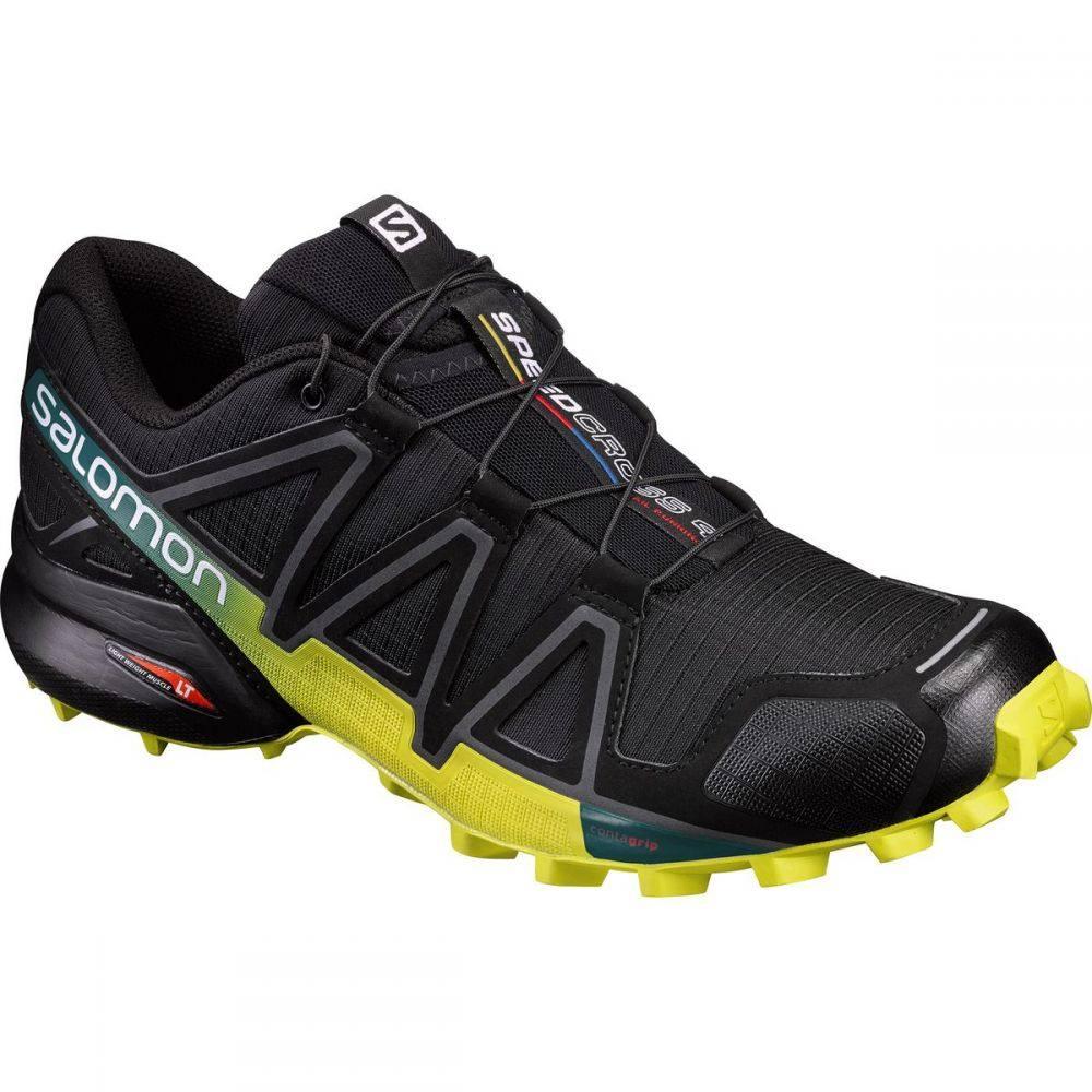 サロモン Salomon メンズ ランニング・ウォーキング シューズ・靴【Speedcross 4 Trail Running Shoe】Black/Everglade/Sulphur Spring