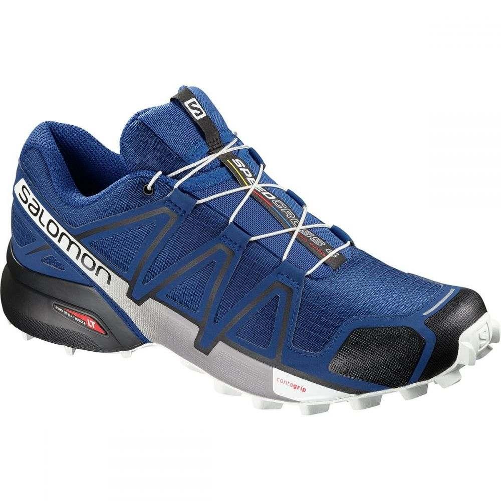 サロモン Salomon メンズ ランニング・ウォーキング シューズ・靴【Speedcross 4 Trail Running Shoe】Mazarine Blue Wil/Black/White