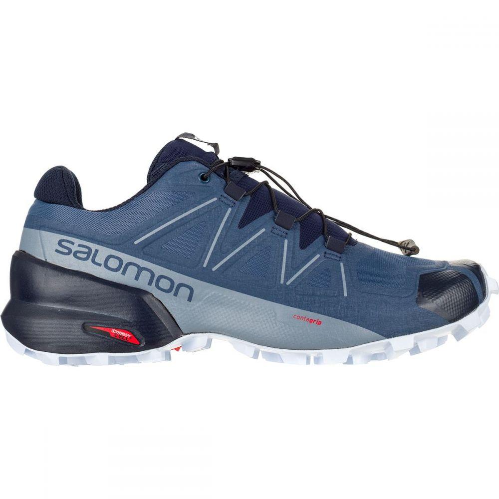 サロモン Salomon レディース ランニング・ウォーキング シューズ・靴【Speedcross 5 Wide Trail Running Shoe】Sargasso Sea/Navy Blazer/Heather