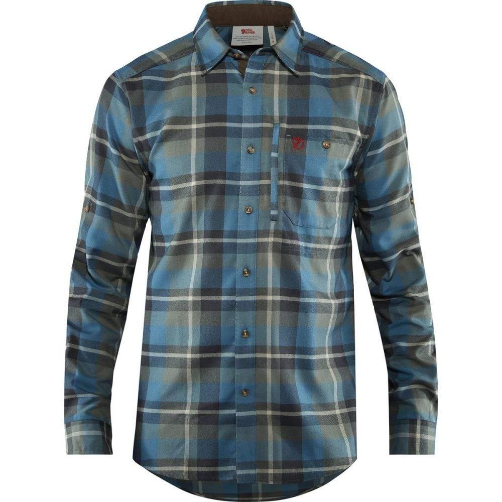 フェールラーベン Fjallraven メンズ シャツ フランネルシャツ トップス【Fjallglim Flannel Shirt】Black