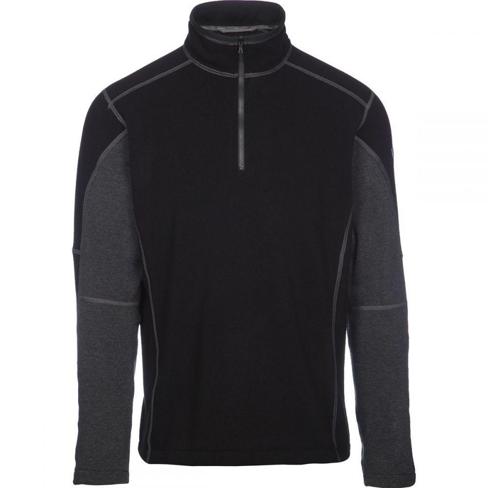 キュール KUHL メンズ フリース トップス【Revel 1/4 - Zip Sweater】Black/Steel