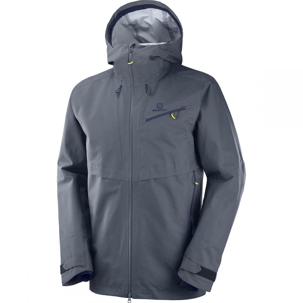 サロモン Salomon メンズ スキー・スノーボード フード ジャケット アウター【QST Guard 3L Hooded Jacket】Ebony
