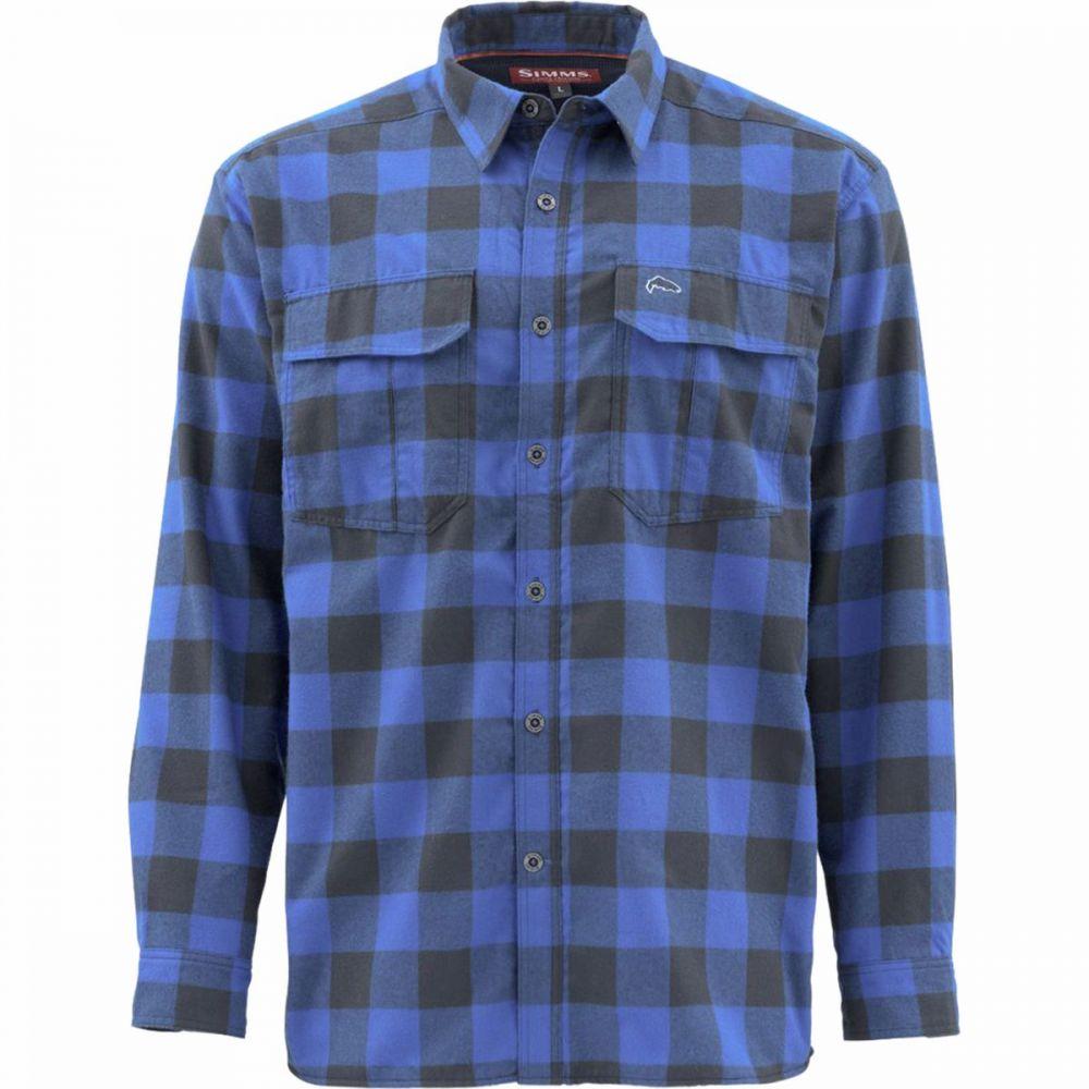 シムズ Simms メンズ シャツ トップス【Cold Weather Shirt】Rich Blue Plaid