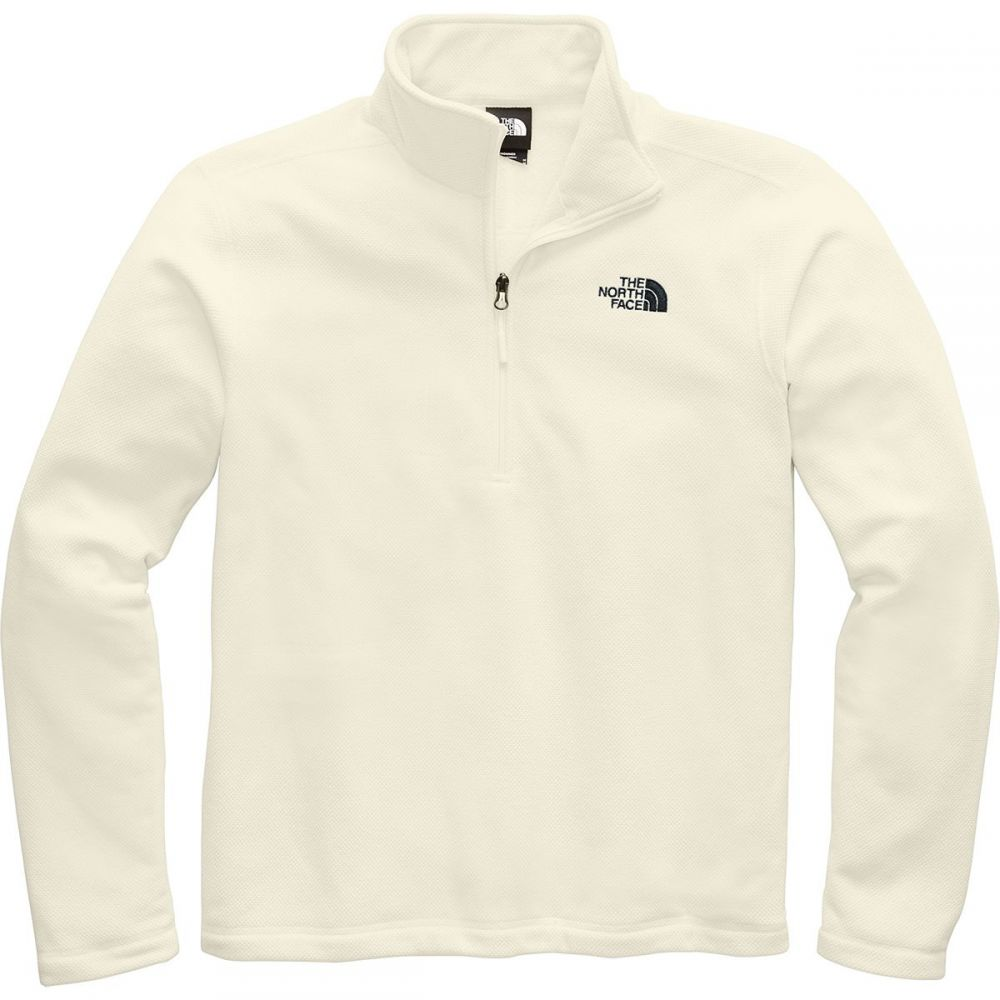 ザ ノースフェイス The North Face メンズ フリース トップス【Textured Cap Rock 1/4 - Zip Fleece Jacket】Vintage White