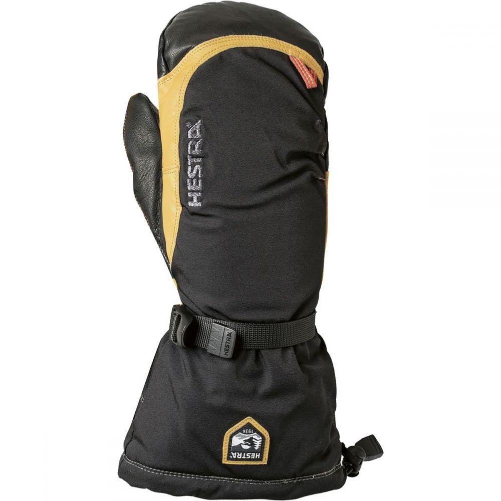 ヘスタ Hestra メンズ 手袋・グローブ ミトン【Army Leather Expedition Mitten】Black/Natural Yellow