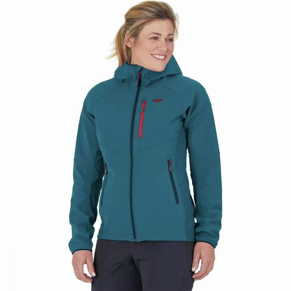 アウトドアリサーチ Outdoor Research レディース ジャケット フード アウター【Ferrosi Grid Hooded Jacket】Celestial Blue