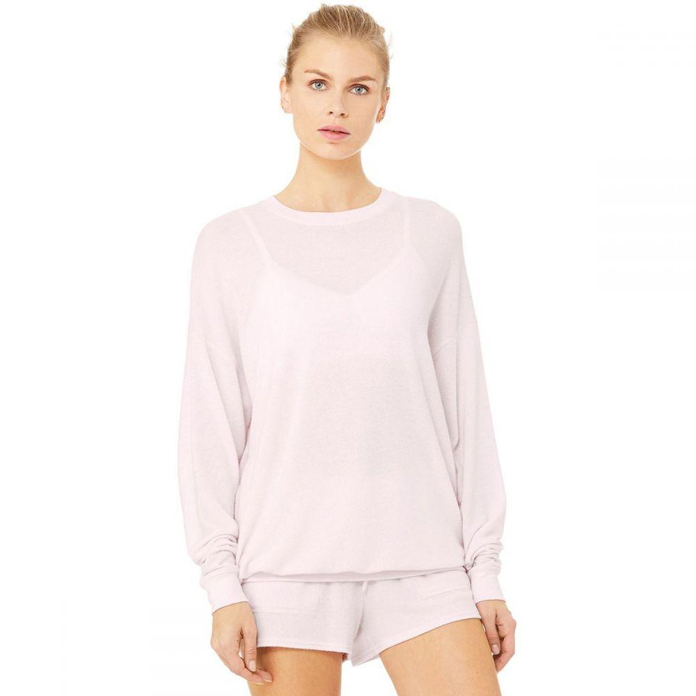 アローヨガ ALO YOGA レディース スウェット・トレーナー トップス【Soho Pullover】Soft Pink Heather