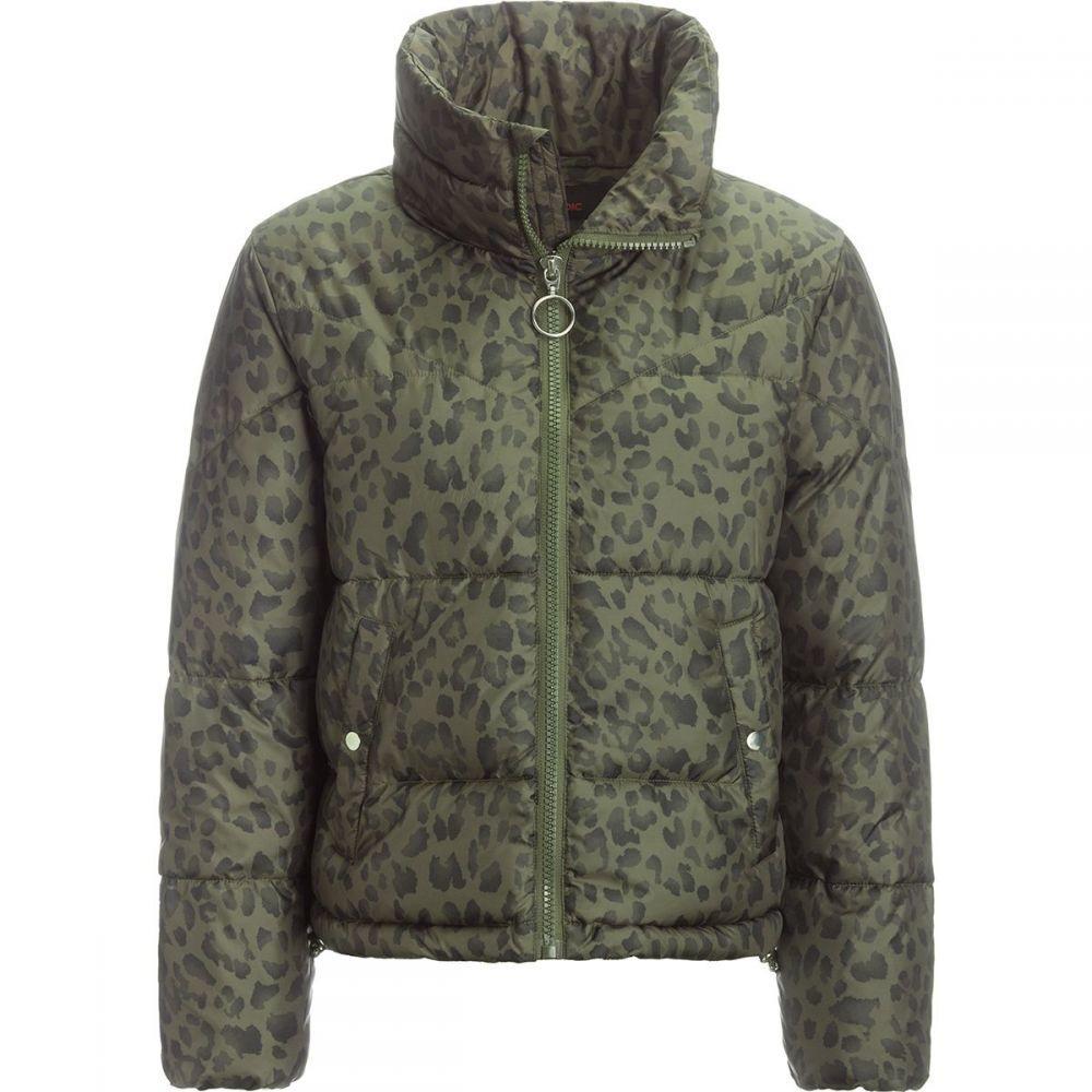 ストイック Stoic レディース ダウン・中綿ジャケット アウター【Printed Cropped Insulated Puffer Jacket】Leopard