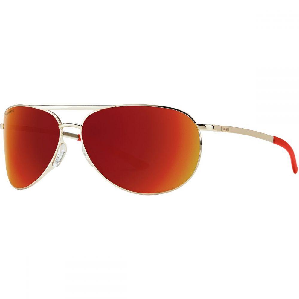 スミス Smith レディース メガネ・サングラス 【Serpico 2 Slim ChromaPop Sunglasses】Gold/Sun Red Mirror